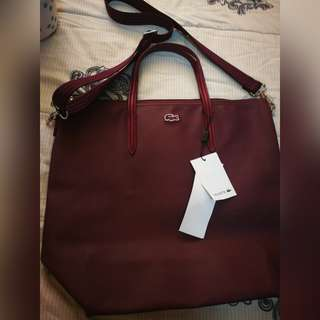 Maroon Lacoste Bag w/ sling❕free shipping within MM