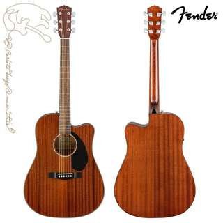 [免運費可分期]FENDER CD-60SCE 可插電41吋 桃花心木單板民謠吉他/電木吉他 內建調音器 贈琴袋