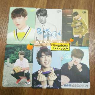 [FREE POS] Wanna One Park Woojin Yes Card Photocard SET