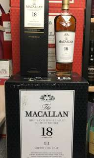 Macallan 18 year old sherry oak 2018
