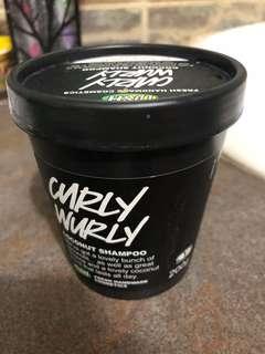 Lush Curly Wurly organic coconut shampoo