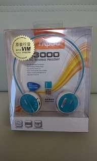 Rapoo H3000 2.4G Wireless Headset 耳機,全新買後試過-次work-直沒用過