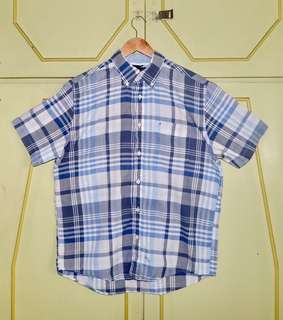 Authentic Tommy Hilfiger Plaid Short Sleeve Button Down