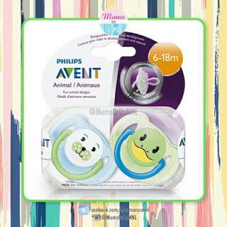 "‼️RESTOCK‼️AVENT Classic Pacifier (6-18m) ""ANIMAL"" Green"
