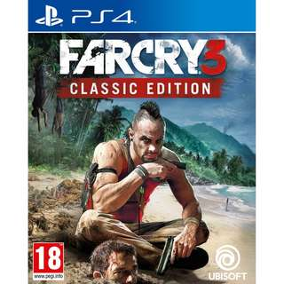 [NEW NOT USED] PS4 Far Cry 3 Classic Edition Sony PlayStation Ubisoft Shooting Games