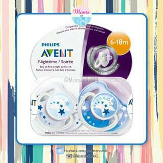 ‼️RESTOCK‼️AVENT Classic Pacifier (6-18 MONTHS) Blue STAR
