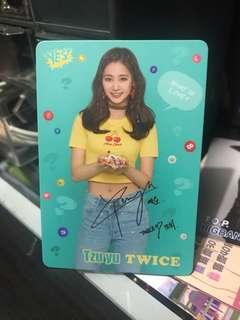 Twice 子瑜小卡 簽名卡