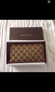 Gucci wallet.  New.  Authentic.