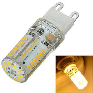 760. G9 5W 500lm 3500K/6500k 58x SMD 3014 LED Warm/Cool White Light Bulb Lamp (AC230V) ( Light Source Color : Warm White ) 4pcs