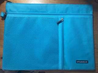 全新藍色A4拉鏈文件袋