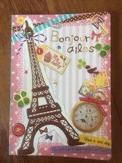 Paris colour notebook