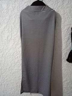 Grey avenue maxi side slit