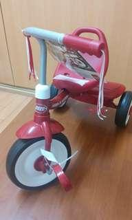 美國RadioFlyer領航者-紅騎士折疊三輪車