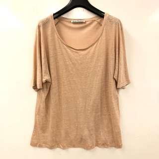 Acne studios beige tee shirt size L