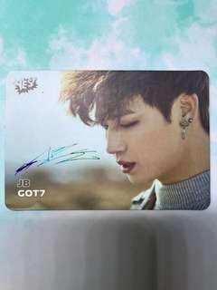 GOT7 JB 簽名 Yes Card