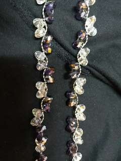 Long crystal inspired necklace