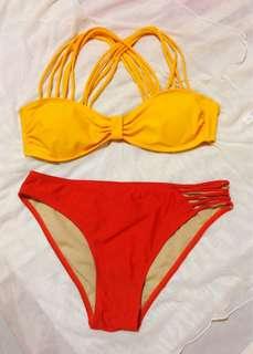 Swimsuit - yellow & orange