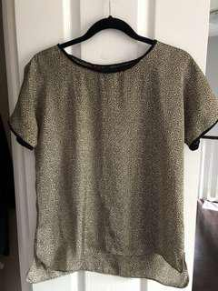 French connection leopard print top