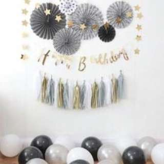 happy birthday backdrop decoration deco bundle set