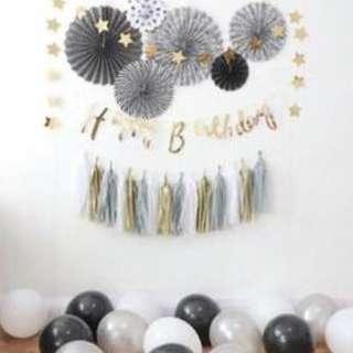 happy birthday backdrop decoration deco bundle set