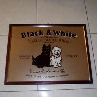 Black & White Scotch Whisky Frame