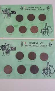 Old coins Sets ×2 from Australia