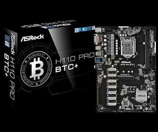 Asrock H110 pro btc + (Mother Board)