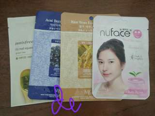 mask sheet innisfree, mjcare, nuface