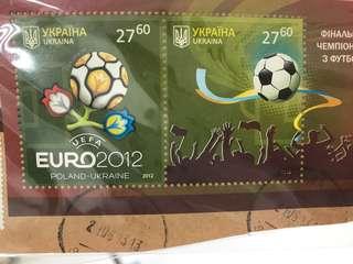 Euro 2012 UEFA 郵票
