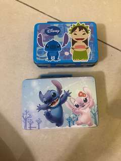 Stitch small tin boxes