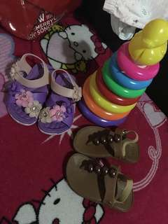 For baby girl toy and sandals (TAKE ALL)