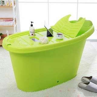 🚚  Adult Portable Bathtub Soaking Tub HDB Bathtub Light Tub Plastic Bathtub Plastic Portable Bathtub