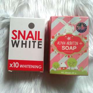 Snail White Soap and Alpha Arbutin Soap