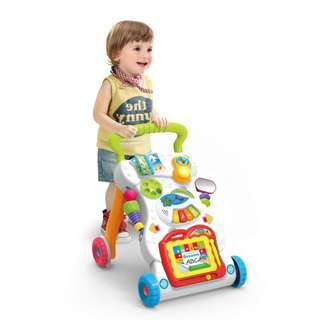 Ready Stock Sit-to-Stand First Steps Baby Activity Walker Multiple Pattern Learning Toy
