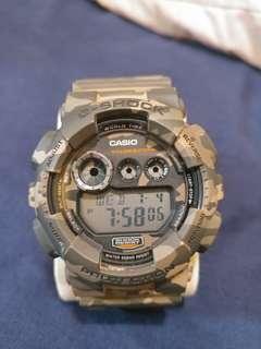 Casio G-Shock GD-120 迷彩色