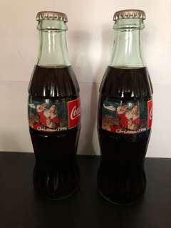 Coca-Cola 1996年聖誕節版 237ml (2枝)玻璃瓶