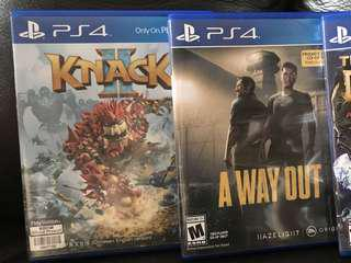 ps4 knack2,a way out