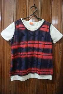 Kaos Shirt Set Ombre