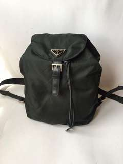 Authentic Prada Nyon Backpack Army Green