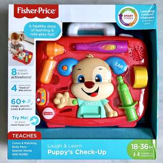 (In-Stock) Fisher-Price Puppy's Check-up Toy Playset (Brand New)