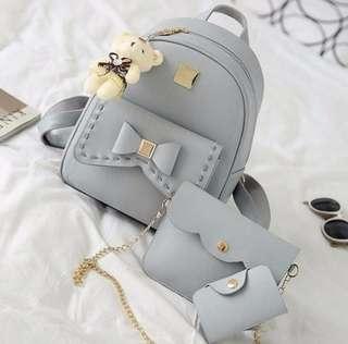 Backpack, Shoulder Bag and Wallet