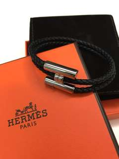 hermes tournis double tour leather bracelet