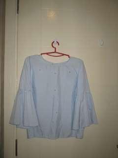 Pearl Light Blue Blouse #July50