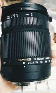 SIGMA DC 18-250mm 1:3.5-6.3 HSM EF mount (READ THE DESCRIPTION)