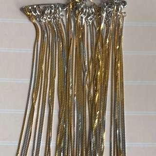 包金1.5mic,項鍊,双色金鍊,16吋,18吋