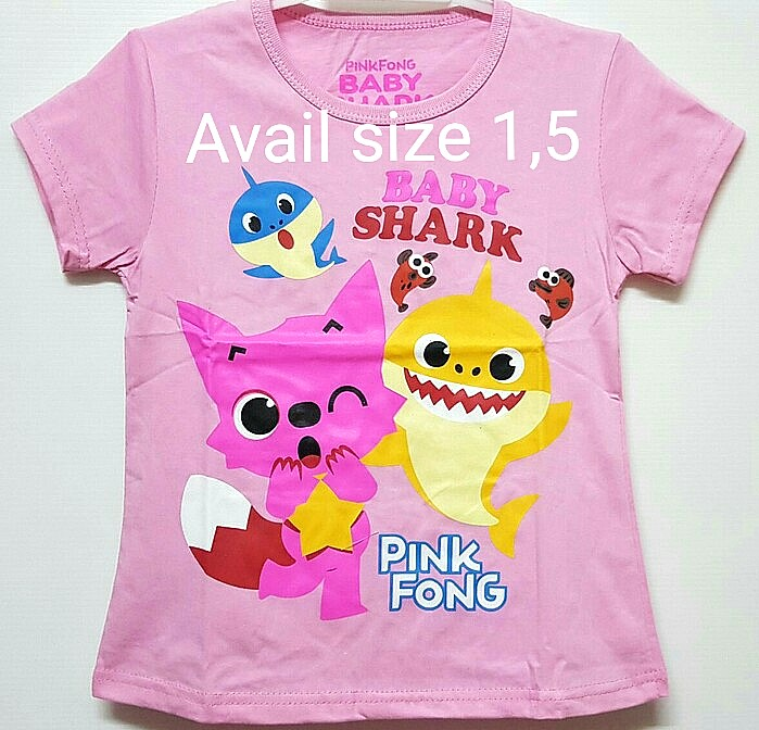 12d5b50ce 1for$6 Baby Shark Pinkfong Pink tshirt, Babies & Kids, Girls' Apparel, 4 to  7 Years on Carousell