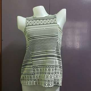 Aztec pattern sleeveless top