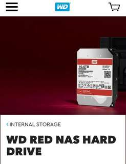 WD RED 4TB NAS Server Grade Hard Disk Drive HDD (lightly used)