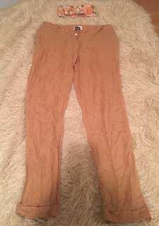 American Vintage tan trousers size L