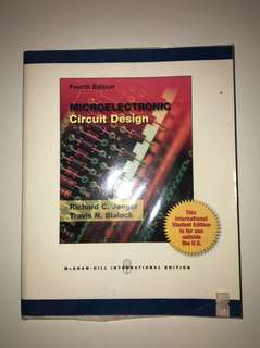 Microelectronics Circuit Design By Rick Jaeger and Travis N Blalock Fourth Edition